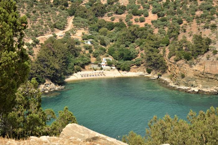 Thasos plaja cu izvor